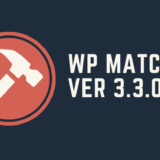 WP MATCH Ver3.3.0